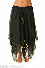 Chiffon Beaded Belly Dance Skirt Dancing Costume Outfit All Colours In Stock NEW
