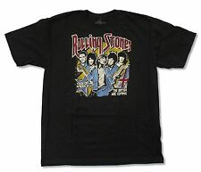 """THE ROLLING STONES """"BRITISH ARE COMING"""" BLACK T-SHIRT NEW OFFICIAL ADULT BAND"""
