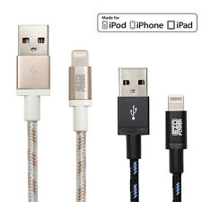 Apple Certified MFI EZOPower 8-Pin Lightning Braided Sync Charge USB Cable Cord