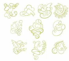 Gilded Doves Redwork Collection Machine Embroidery Designs-Anemone Embroidery