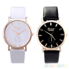 Mens Womens Invincible Geneva Faux Leather Band Strap Analog Quartz Wrist Watch
