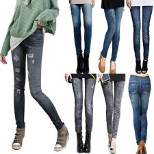 Sexy Womens Skinny Denim Stretch Jeggings Trousers Jeans Pants Leggings