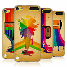 HEAD CASE COLOUR DRIPS SILICONE GEL CASE FOR APPLE iPOD TOUCH 5G 5TH GEN