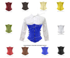 Full Steel Boned Underbust Authentic Leather Heavy Lacing Shaper Corset #H9030
