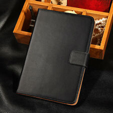 Luxury Genuine Leather Smart Case Flip Stand Cover For Apple iPad Mini 1 2 3 Air