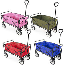 Folding Collapsible Utility Wagon Garden Cart Shopping Buggy Yard Beach