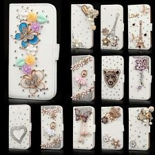 3D Bling Diamond Rhinestone Leather Stand Case Cover Wallet for iPhone 6 Plus