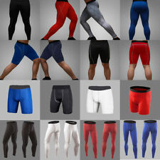 Mens Compression Under Base Layers Gear Skin Shorts Long Pants Tights Sport Wear