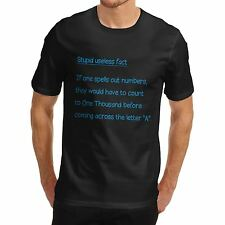 Men Funny Message Print Useless Fact Counting T-Shirt