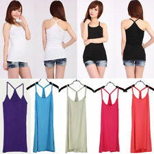 Nice Basic Women's Solid Tank Top Racer Back Cami Vest No Sleeve T-Shirt