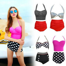 Hot Sexy Retro Vintage Pin Up High Waist Bikini Sets New Style Swimwear S-XL