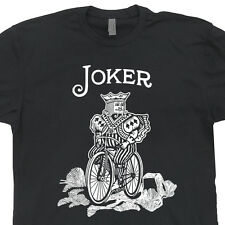 Joker Funny Bicycle Vintage T SHIRTS Cards batman World Series of Poker The Tees