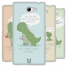 HEAD CASE HARD TIMES OF A T REX SILICONE GEL CASE FOR SONY XPERIA M2