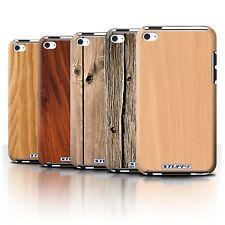 STUFF4 Back Case/Cover/Skin for Apple iPod Touch 4/Wood Grain Effect/Pattern