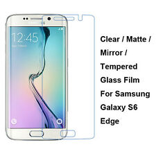 Tempered Glass/Clear/Matte/Mirror Screen Protector For Samsung Galaxy S6 Edge