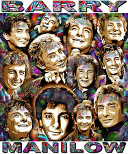 """BARRY MANILOW"" TRIBUTE T-SHIRT OR PRINT BY ED SEEMAN"