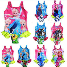 Girl Kid Swimwear Swimsuit Tankini Bathing Beachwear Princess Elsa Anna Swimming
