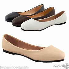 New Women Casual Comfort Slip On Round Pointed Toe Flat Ballet Loafers Shoes