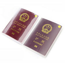 New Clear/Frosted Passport Cover Holder Case Organizer ID Card Travel Protector