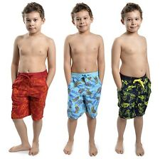Tom Franks Boys Safari Print Swim Shorts