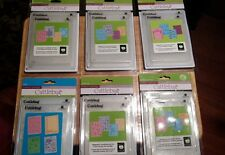 Cuttlebug Cricut COMPANION EMBOSSING FOLDER SETS (4 pk) - U Choose (New&Sealed)