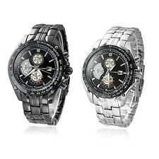 New Luxury Sport Stainless Steel Date Quartz Analog Mens Wrist Watch Oenate