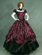 Victorian Gothic Brocade floral Dress Ball Gown Theater Reenactment Clothing 323