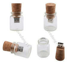 Customized Private Wooden Lucid Bottle Artwork USB Flash Pen Drive for computer