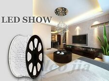 White 3528 Led Strip Direct plug 220-240V Free Kit &clips screws and power plug