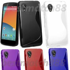 for google LG nexus 5 black white red purple blue s-line tpu soft back case