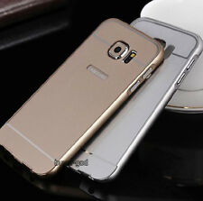 Luxury Thin Slim Aluminum Metal Frame Acrylic Back Case Cover For Samsung Galaxy