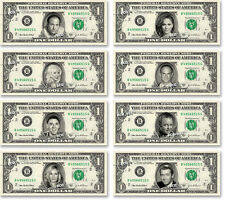 CELEBRITY on REAL Dollar Bill - $1 Celebrities Bill Currency Cash Money V.4