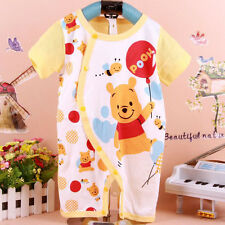 Newborn Baby Boys Girls Bodysuit 0-18M Winnie The Pooh Rompers Pants One-Piece