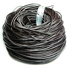 Genuine Leather Cord Thread For Bracelet Necklace Jewelry Making DIY 10/100M