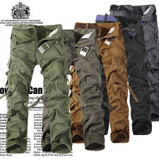 Fashion Combat Men's Cotton Military Cargo Pants Camouflage ARMY Camo trousers