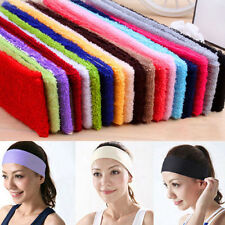 New Chic Sweatband Terry Cloth Cotton Headbands,Yoga/Gym/Workout Sweatbands