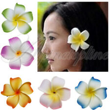 Bridal Dress Plumeria Foam Flower Hair Clip Brooch Pin