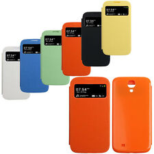 Luxury Flip Leather View Case Battery Cover For Samsung Galaxy S4 i9500 Elegant