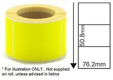 """BLANK YELLOW POSTAGE / PARCEL LABELS - 76mm x 51mm - 3"""" x 2"""" (inch)"""