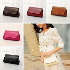 Womens Leather Envelope Clutch Tote Handbag Shoulder Bag Purse Messenger Satchel