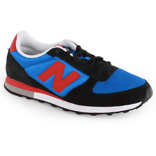 New Balance U430 Womens Mens Trainers Suede Mesh Black Blue New Shoes 8 11 UK