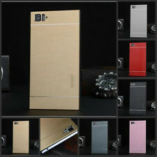 Luxury Metal Aluminum Brushed PC Hard Back Cover Case Skin For HTC One M7/M8/M9