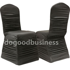 High quality Ruched Stretch Satin Chair Cover for wedding decoration party favor