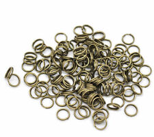 New Lots 4-14mm Bronze Plated Open Double Split Jump Rings Connector Findings