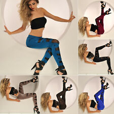 Fashion Women's Legging Ripped Sexy Stretch Leggings Vintage Pants Trousers