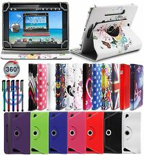 "360° UNIVERSAL LEATHER STAND CASE COVER FOR VARIOUS 8"" PRESTIGIO MULTIPAD TABLET"