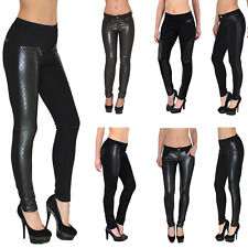 Women Pants Skinny Low-Rise Trousers Stretch Tube Ladies Treggings T05 UK