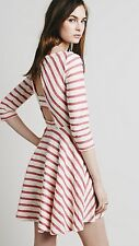 "NWOT Free People ""All I Want Is You"" Striped Knit Open Back Dress Anthropologie"