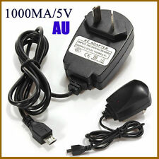 AU Micro USB Black AC Universal Travel Home Power Adapter Wall Charger For Phone