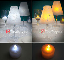 Wedding Party Table Number Decor Wineglass Cup Candle Cover Lampshades Romantic
